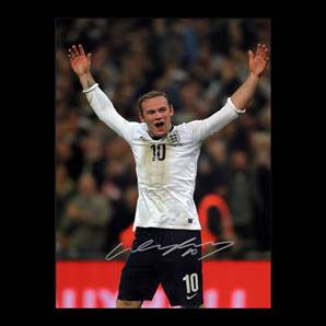 Wayne Rooney Signed England Photo Number 10 - All Time Record England Goal Scorer