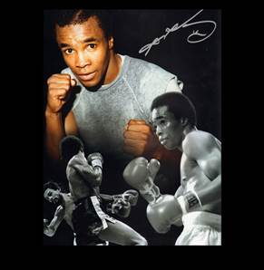 Sugar Ray Leonard Personally Signed Montage Photo