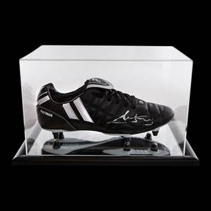 Ricky Villa Personally Signed Black Football Boot With Acrylic Display Case
