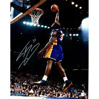 Shaquille O'Neal signed Lakers Dunk in Purple 16x20 Photo