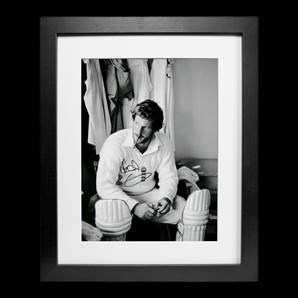 Sir Ian Botham Personally Signed Photo - Smoking Cigar, Framed