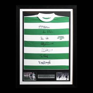 Signed Celtic 1967 European Cup Shirt, Framed