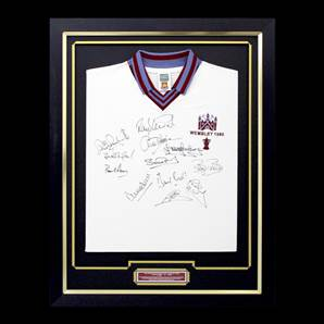 West Ham Signed Shirt 1980 FA Cup Winners - Signed By 12 Players, Framed