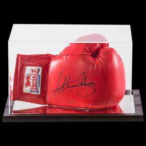 Anthony Joshua Signed Boxing Glove Lonsdale - In Acrylic Display Case