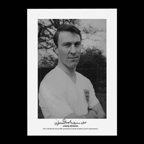 Jimmy Greaves signed print - England Legend
