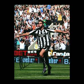 Andy Carroll signed Newcastle photo - Celebration