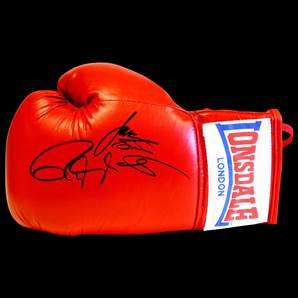 Roy Jones Jr and James Toney Dual Signed Boxing Glove - Lonsdale