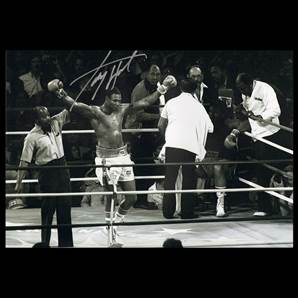 Larry Holmes Personally Signed Boxing Photo