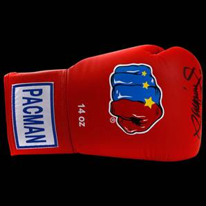 Manny Pacquiao Signed Boxing Glove - Red