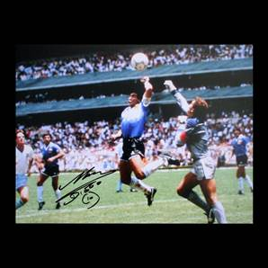 Diego Maradona Personally Signed Photo - Hand Of God
