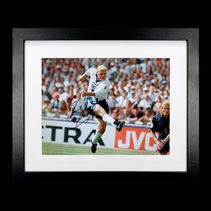 Paul Gascoigne Personally Signed & Framed England Photo - Euro 96 Goal