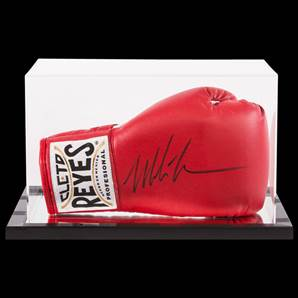 Mike Tyson Signed Boxing Glove Red Reyes With Acrylic Display Case