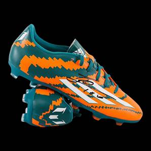 Lionel Messi Personally Signed Football Boot - Solar Orange Adidas Messi 10.1