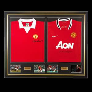 Wayne Rooney & Bobby Charlton Dual Framed Manchester United Signed Shirts