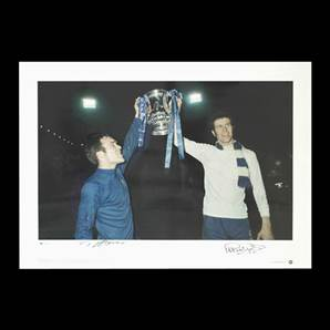 Ron Harris and Peter Osgood signed print - Chelsea FA Cup Winners