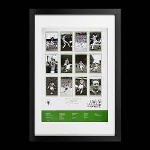 Billy McNeill signed print - Celtic European Cup Kings 1967, framed