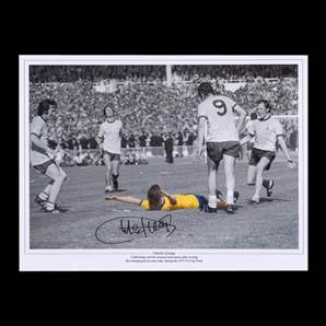 Charlie George signed 1971 FA Cup Arsenal print