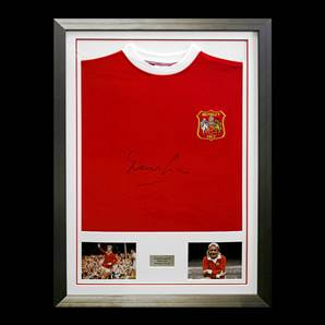 Denis Law Manchester United Signed & Framed Shirt - 1963 FA Cup