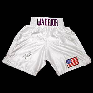 Evander Holyfield Signed Boxing Shorts - Warrior
