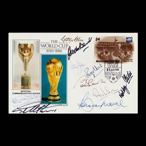 World Cup 1966 Official Cover Signed By 10 England Players Inc Bobby Moore