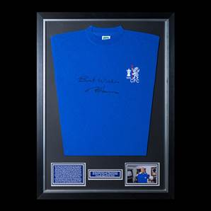 Ron 'Chopper' Harris Signed Chelsea 1970 Shirt - Best Wishes, Framed