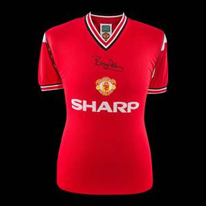 Bryan Robson Signed 1985 Manchester United Shirt