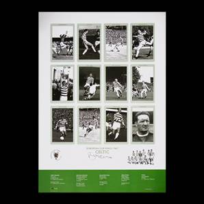 Billy McNeill signed print - Celtic European Cup Kings 1967
