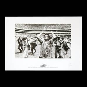 Diego Maradona signed World Cup print - Beating England 1986 Quarter Final
