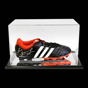 Paul Gascoigne Personally Signed Adidas Football Boot With Acrylic Display Case