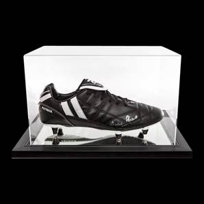 Martin Peters Personally Signed Boot Patrick In Acrylic Display Case