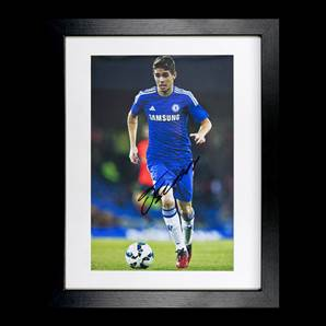 Oscar Dos Santos Signed Chelsea Photo - Small, Framed
