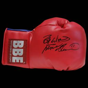 Frank Bruno signed boxing glove - Red BBE