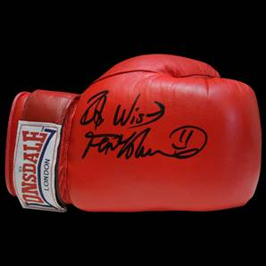 Frank Bruno signed boxing glove - Red Lonsdale