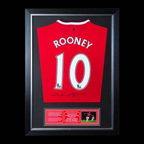 Wayne Rooney Back Signed & Framed Manchester United Shirt - 2014/2015