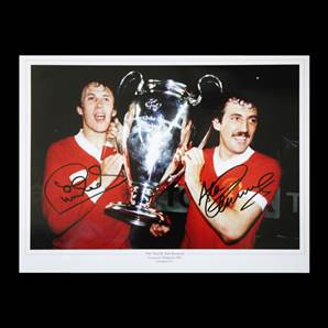 Phil Neal & Alan Kennedy signed Liverpool photo