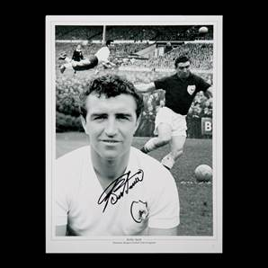 Bobby Smith Personally Signed Tottenham Hotspur photo montage