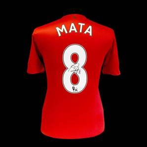 Juan Mata Signed Manchester United 2013-14 Shirt