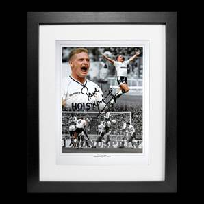 Paul Gascoigne Personally Signed Photo - Tottenham Hotspur Legend, Framed