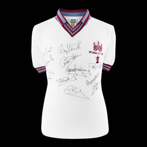 West Ham 1980 FA Cup Winners Signed Shirt - Personally Signed By 12 Players
