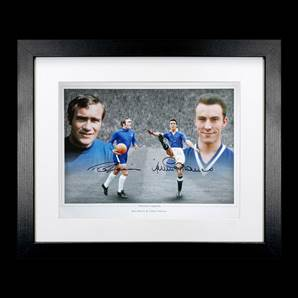 Ron Harris & Jimmy Greaves Personally Signed Photo - Chelsea Legends, Framed