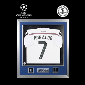 Official UEFA Champions League Cristiano Ronaldo Signed Framed Real Madrid 2014-15 Shirt