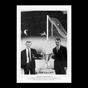 Jimmy Greaves and Terry Dyson signed Spurs print - Cup Holders