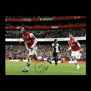 Santi Cazorla Signed Arsenal Photo