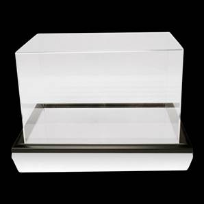 Acrylic Display Case With Mirror Base - Football Boot