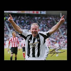 Alan Shearer Personally Signed Newcastle Photo - Toon Legend Large