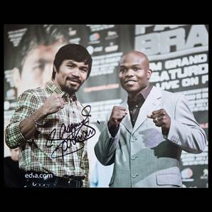 Manny Pacquiao Personally Signed Photo - With Tim Bradley