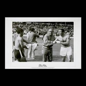 George Cohen signed print - England vs Argentina 1966