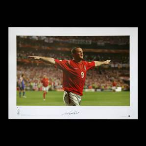 Wayne Rooney signed print Pride of England - All Time Record England Goal Scorer