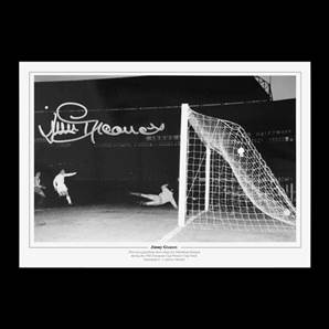 Jimmy Greaves signed print - 1963 Cup Winners' Cup final