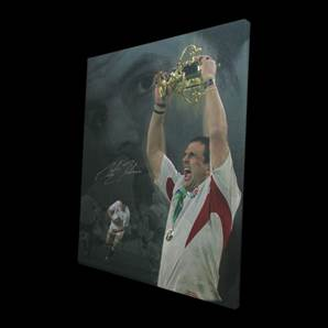 Martin Johnson signed canvas - Champions of the World